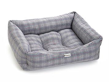 Chilli Perro Rosa y Azul Check Lavable Perro y Gato Cama tamaño Mediano y Grande: Amazon.es: Productos para mascotas