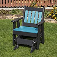 ARUBA BLUE-POLY LUMBER MISSION 2 Feet Glider EVERLASTING - MADE IN USA - AMISH CRAFTED