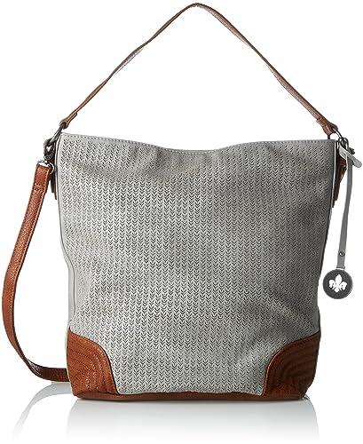 H1422, Shoulder Bag, Womens, Grey (Grau), 15x34x37 cm (B x H x T) Rieker