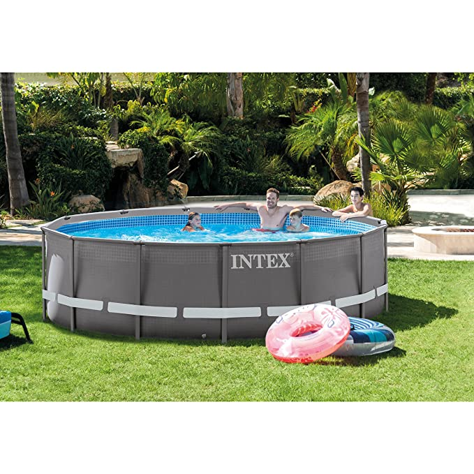 Amazon.com: Piscina rectangular, con bomba de filtro de ...
