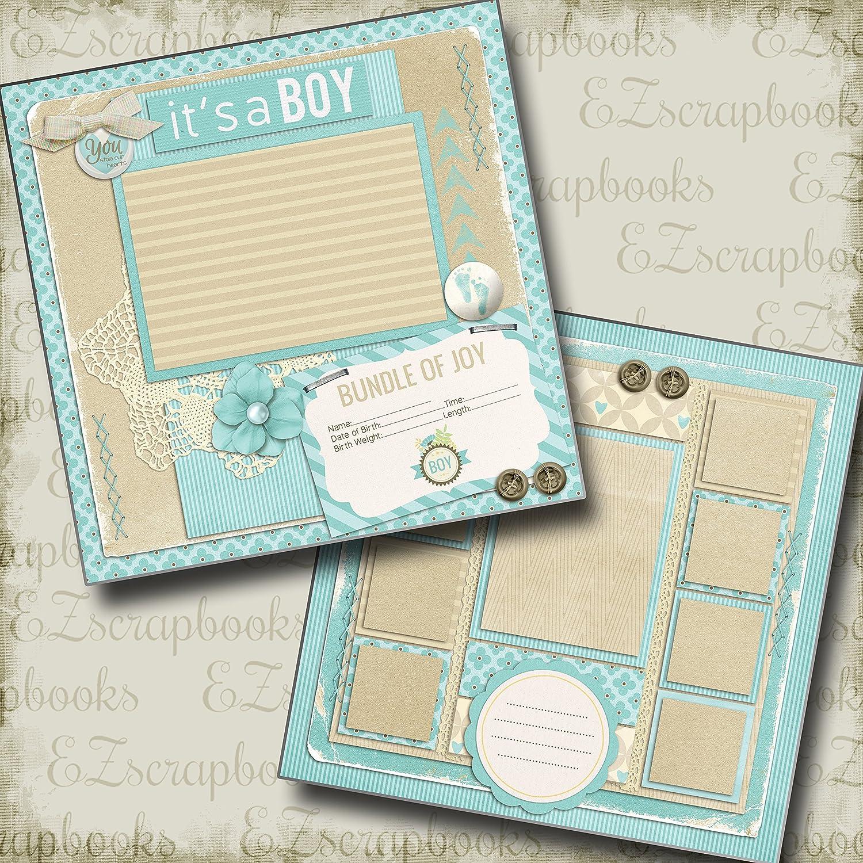 MY BOY Premade Scrapbook Pages EZ Layout 2588