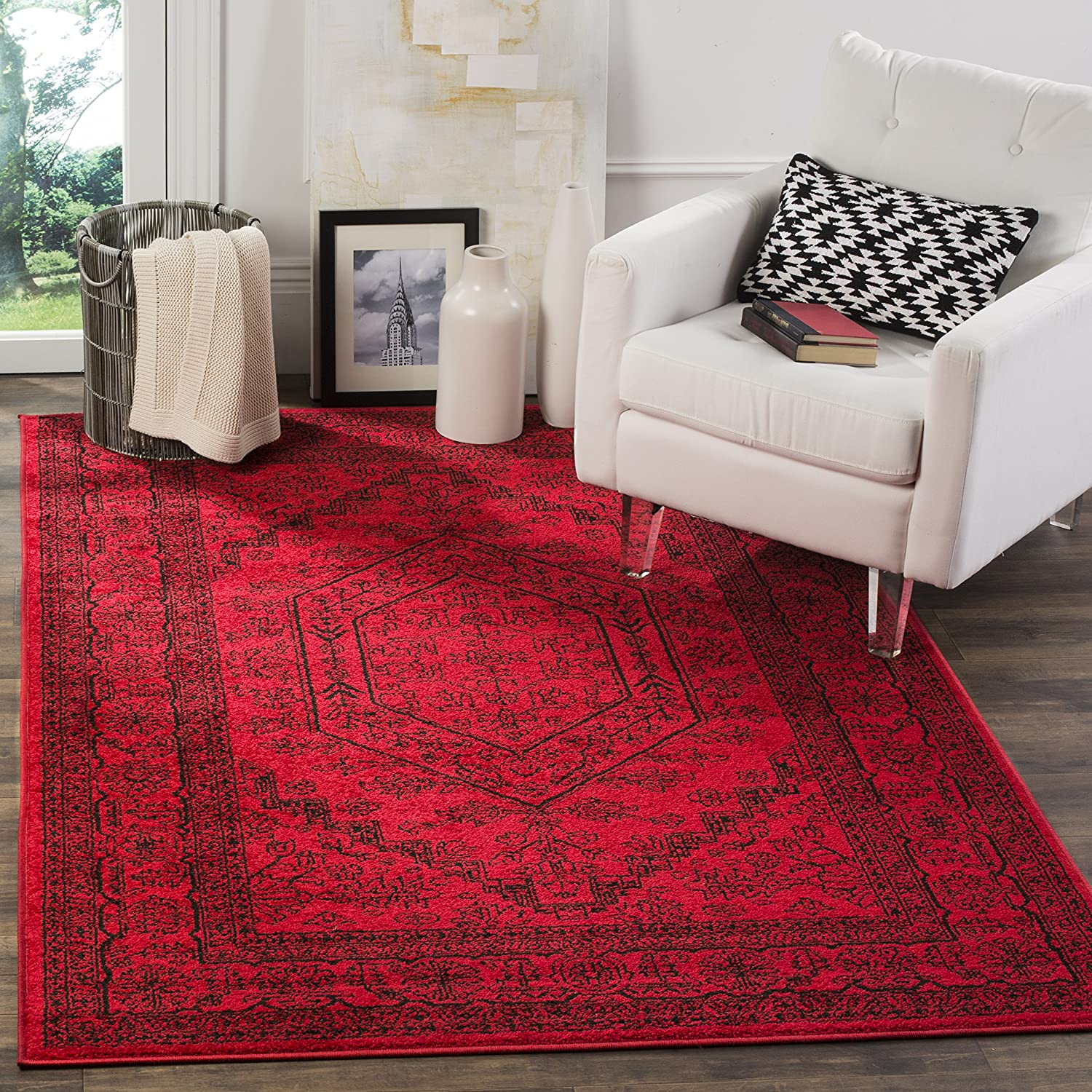 Amazon com safavieh adirondack collection adr108f red and black oriental vintage medallion area rug 8 x 10 kitchen dining