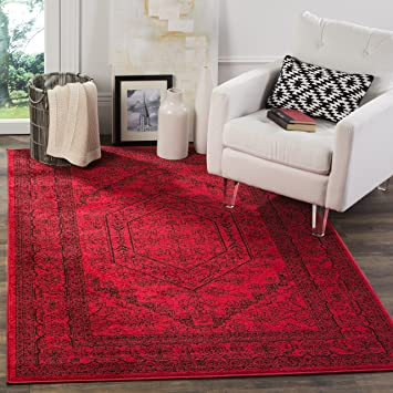 Safavieh Adirondack Collection ADR108F Red And Black Oriental Vintage Area Rug 8 X 10