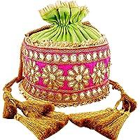 Bombay Haat Ethnic Rajasthani Gota Patti Potli Bag, Bridal Clutch, Purse for Party, Wedding, Wedding Gift