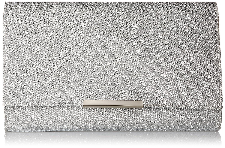Jessica McClintock Women's Nora Large Envelope Glitter Clutch Champagne One Size V51406/59
