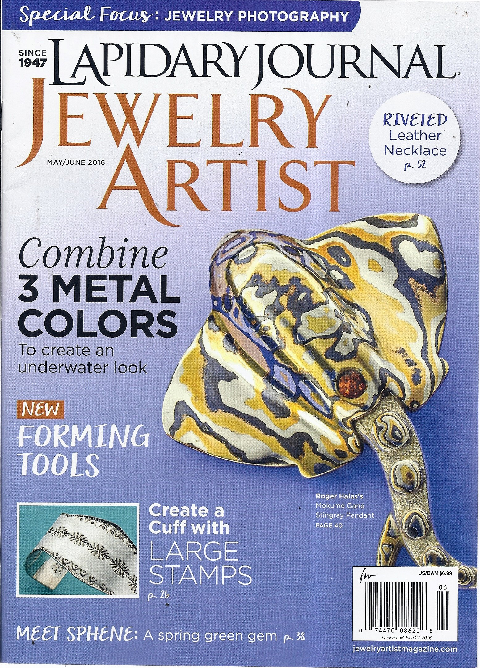 Read Online Lapidary Journal Jewelry Artist Magazine (May/June 2016) ebook