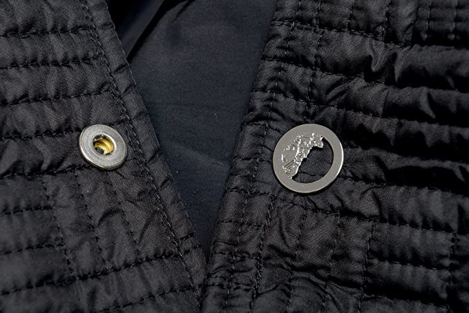 e6cd5169d3 Amazon.com: Versace Collection Men's Black Lightly Insulated Hooded  Windbreaker US L IT 52: Clothing
