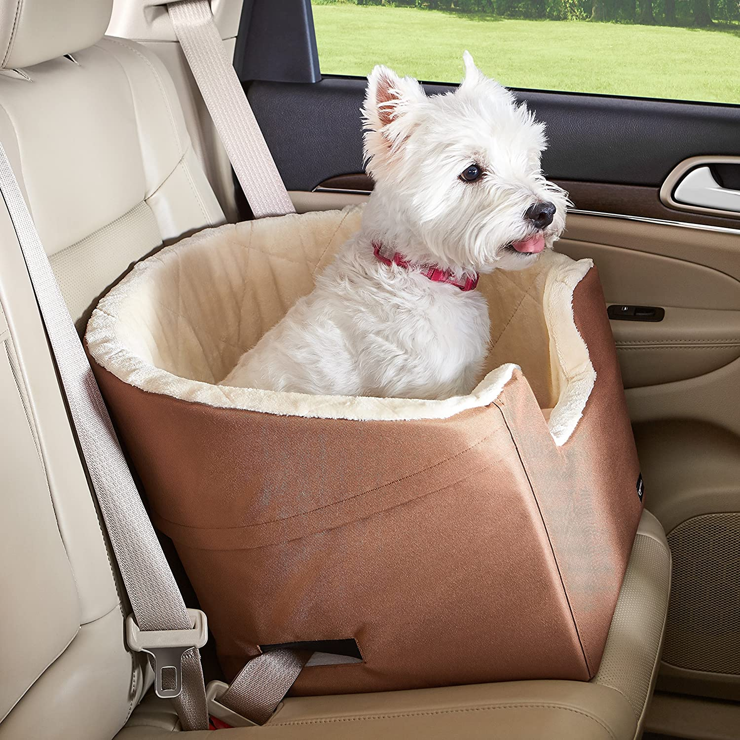 18 x 18 x 16 Inches Basics Pet Car Booster Bucket Seat