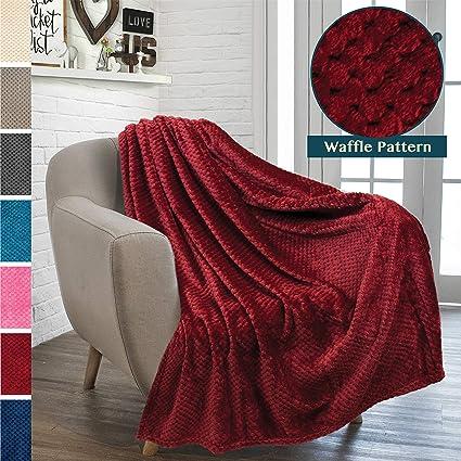 Amazoncom Pavilia Premium Flannel Fleece Throw Blanket For Sofa