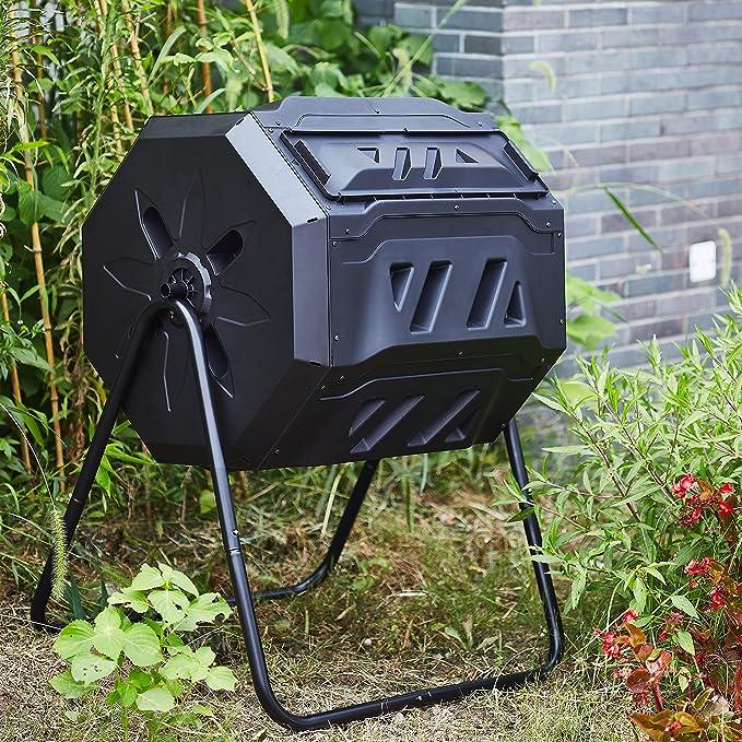 Amazon.com: Rotary Jardín Tumbler composter-easy a su vez ...