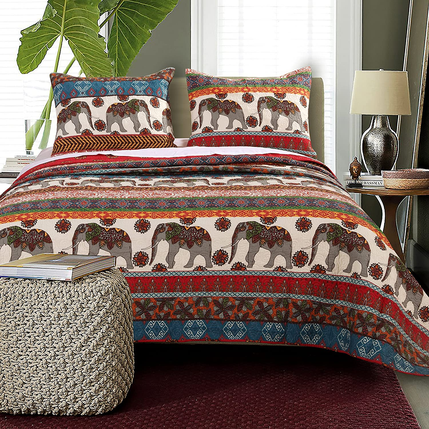 Amazon Barefoot Bungalow Kandula Desert Quilt Set 3 Piece King