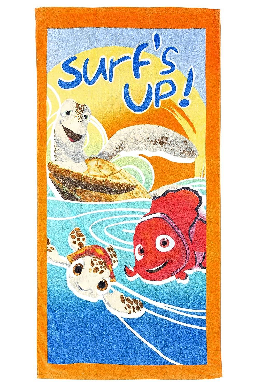 'Disney Nemo Surf's Up. Serviette de plage/Drap de bain 70x 120cm, original sous licence 444389STFNb