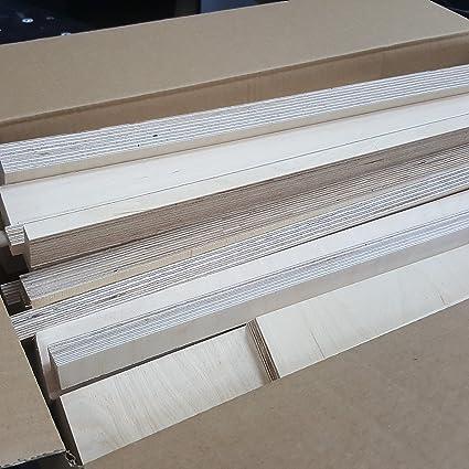 2m Planche Bouleau Multiplex Longueur 100mm Planches de Bois 30mm Coupe de contreplaqu/é Longueurs 1m 1010 mm