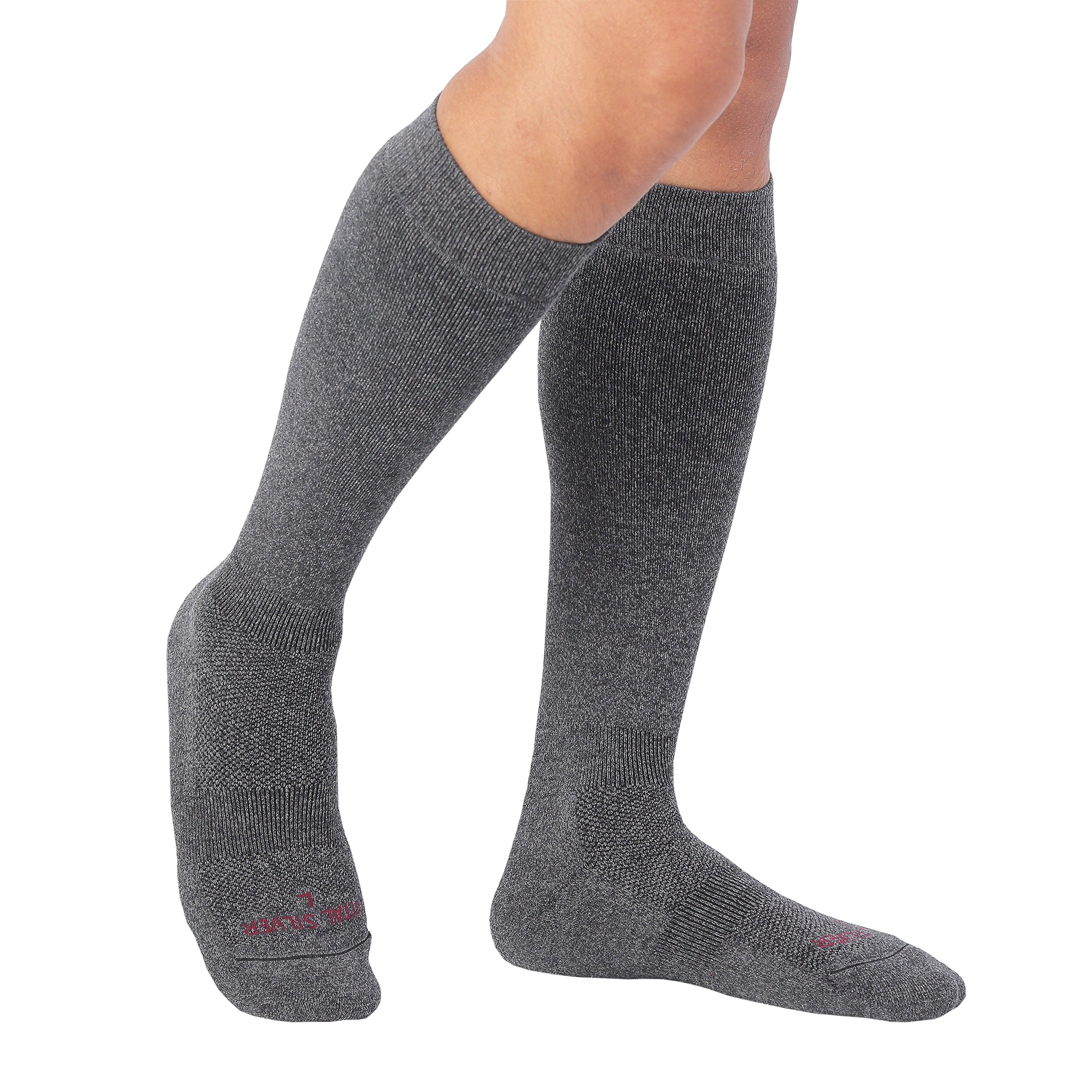 Vital Salveo- Merino Wool Hiking Knee Sock for Outdoor Enthusiasts, Bamboo Charcoal, Dark Gray- X-Large by Vital Silver