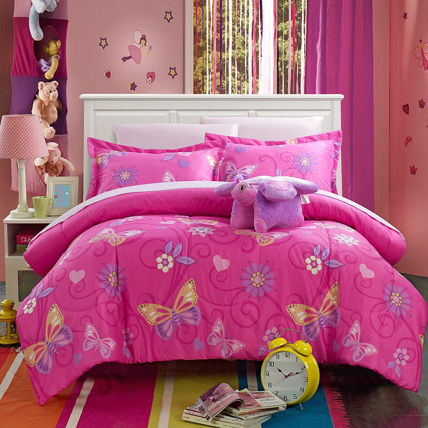kids horses set full gallery decor walmartcom bedding tree a comforter ideas in butterfly pretty sets bag christmas mainstays bed