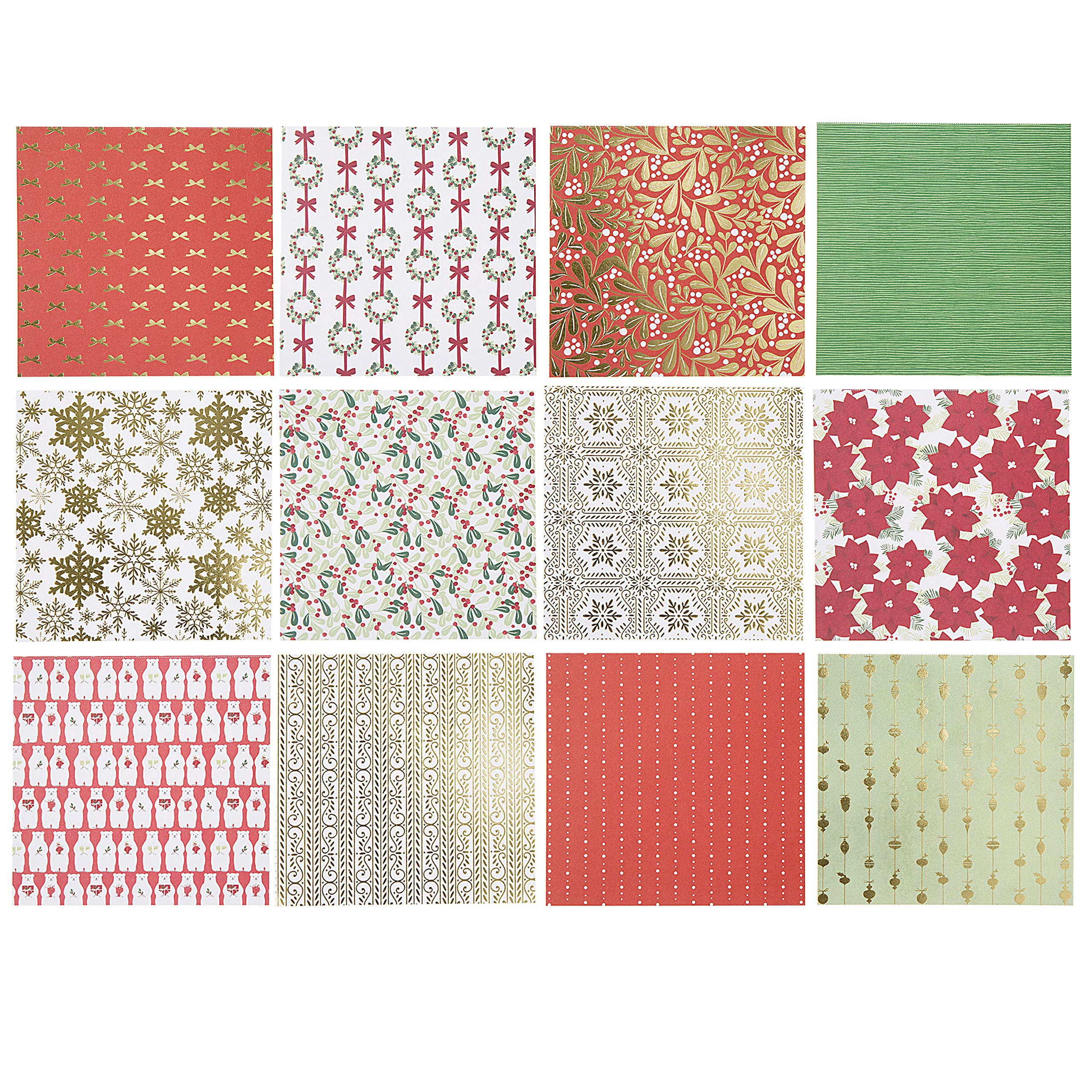 Martha Stewart 30068359 Paper Pad-Red/White/Greenery 6x6 Paperpad 6 x 6 inches Multicolor by Martha Stewart (Image #2)