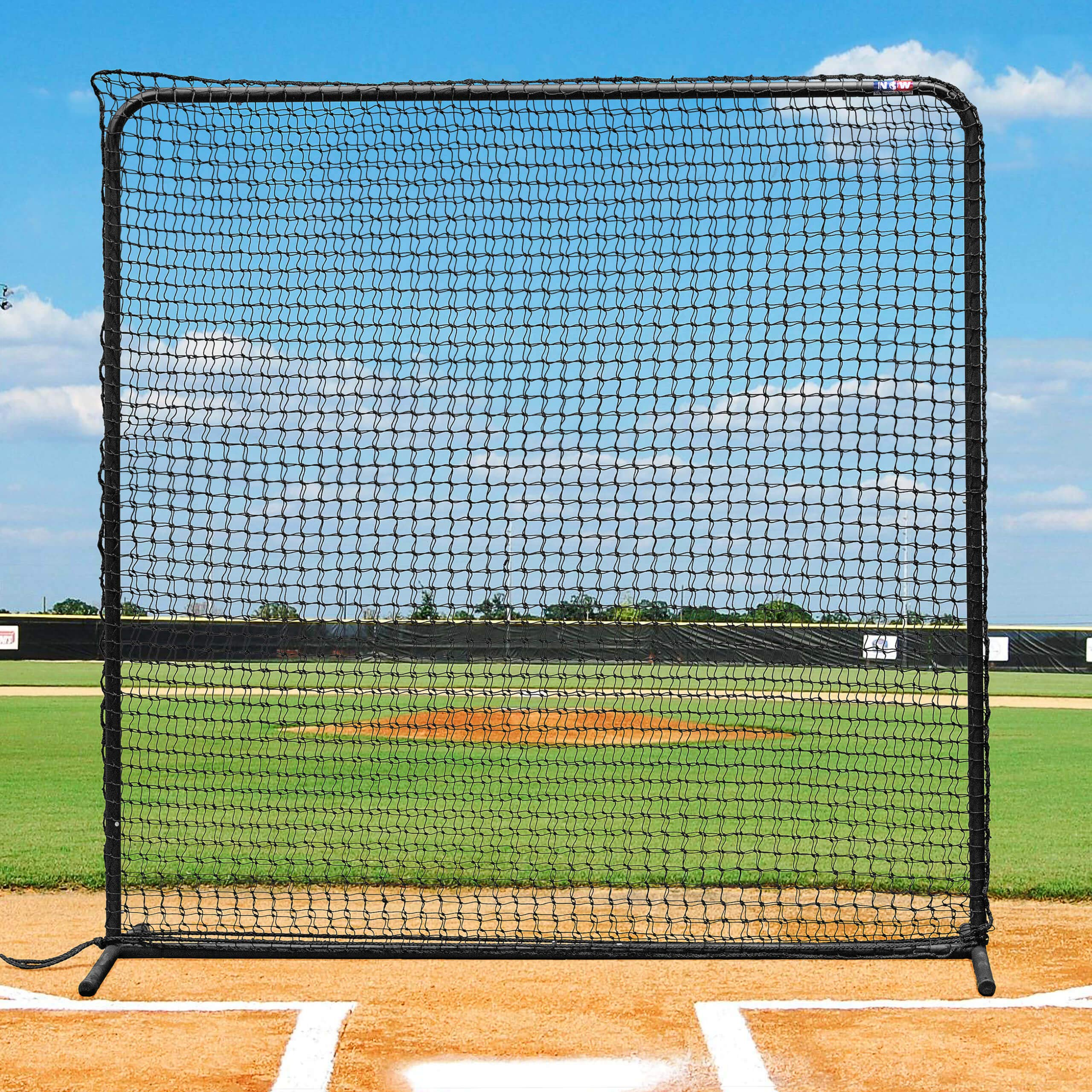 Fortress Baseball Protective Screen - 7ft x 7ft Premium Quality Baseball and Softball Protector Net Screen by Fortress