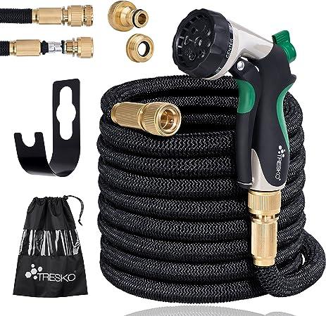 pistolet d/'arrosage TRESKO® Tuyau d/'arrosage flexible et extensible rétractable