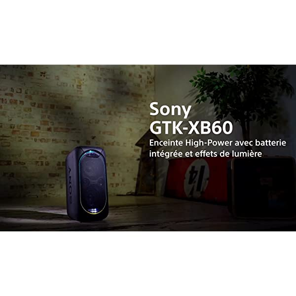 Sony GTK-XB60B Enceinte Bluetooth/NFC Extra Bass High Power - Noir 7