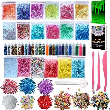 CozYours Slime Supplies Kit, Paquete de 68: de Dibujos para ...