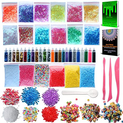 CozYours Slime Supplies Kit, Paquete de 68: de Dibujos para Colorear para Adultos Incluidos