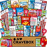 CraveBox Care Package (45 Count) Snacks Food Cookies Granola Bar Chips Candy Ultimate Variety Gift Box Pack Assortment Basket