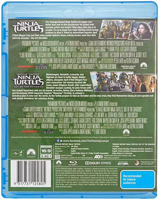 Amazon.com: Teenage Mutant Ninja Turtles / ... Out of the ...
