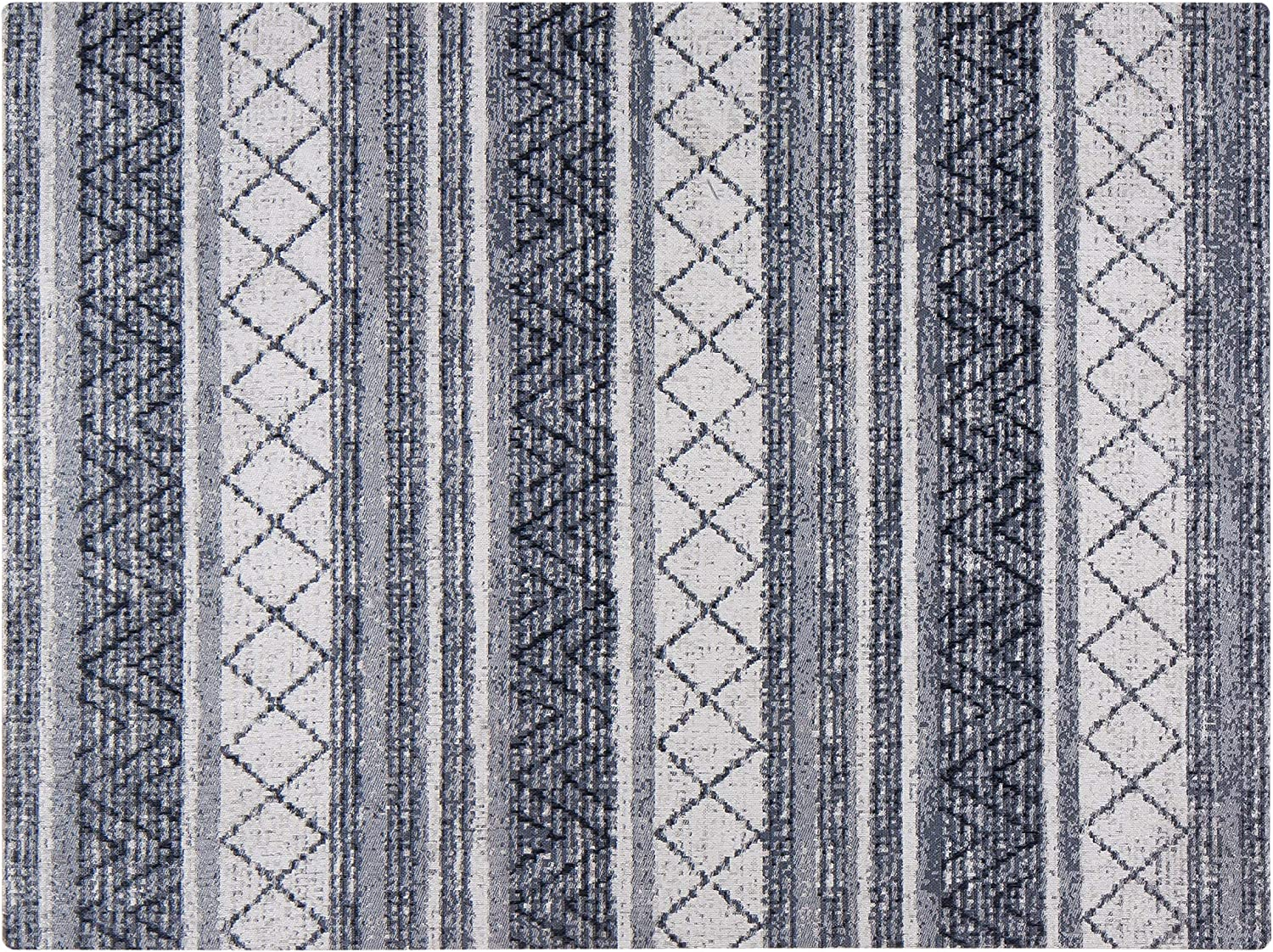 Anji Mountain Chair Mat Rugd Collection For Low Pile Carpets /& Hard Surfaces 1//4 Thick Light Blue Tribal Floral Tabriz