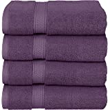 Utopia Towels - Bath Towels Set, Plum - Premium 600 GSM 100% Ring Spun Cotton - Quick Dry, Highly Absorbent, Soft Feel Towels
