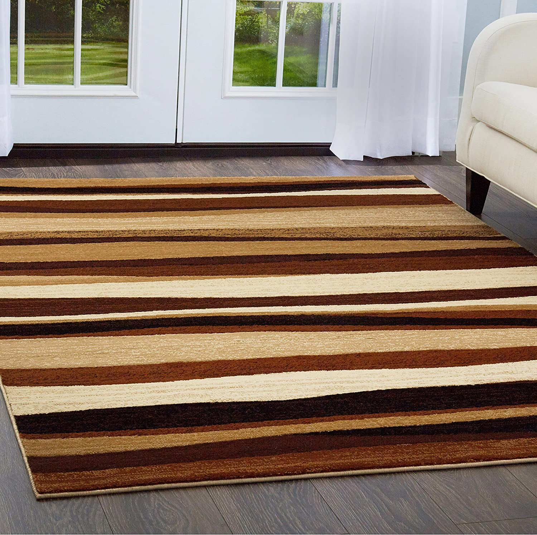 Home Dynamix Tribeca Jayden Area Rug 3 Piece Set Abstract Brown Furniture Decor