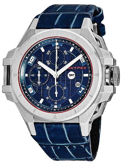 Snyper Reloj de Hombre automático 49mm Correa de Cuero Caja de Acero 50.050.00: Snyper: Amazon.es: Relojes