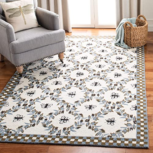 Safavieh Chelsea Collection HK55G Hand-Hooked French Country Wool Area Rug