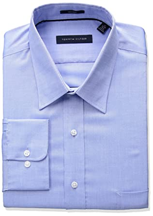f6d0a84d Amazon.com: Tommy Hilfiger Men's Big and Tall Non Iron Tall Fit Solid Point  Collar Dress Shirt: Clothing