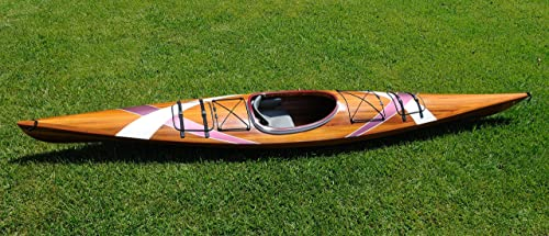 15-ft Wooden Kayak with 2 Stripes [Wooden Boat USA] Picture