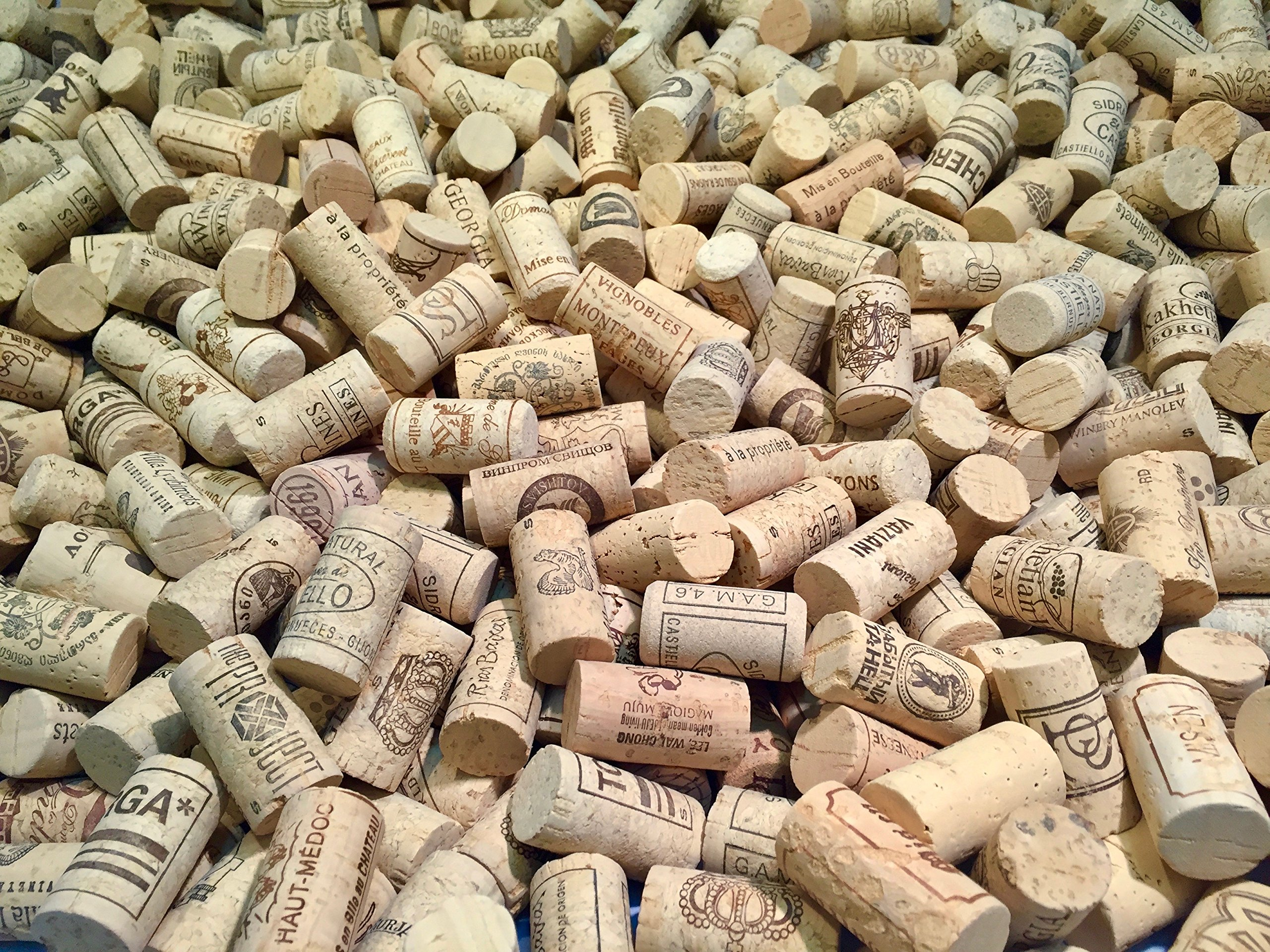 Wine Corks | Brand New, Authentic, All Natural | Printed, Winery-Marked, Craft Grade | Uncirculated, Uniform & Clean | Excellent for Crafting & Decor | Pack of 50/100/150/200 Premium Wine Corks (500) by Corkshire Hathaway (Image #6)
