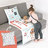 Sago Mini 2-in-1 Fold Up Pillow Playset, Harvey's Doctor's Office with Plush Accessories for Toddlers