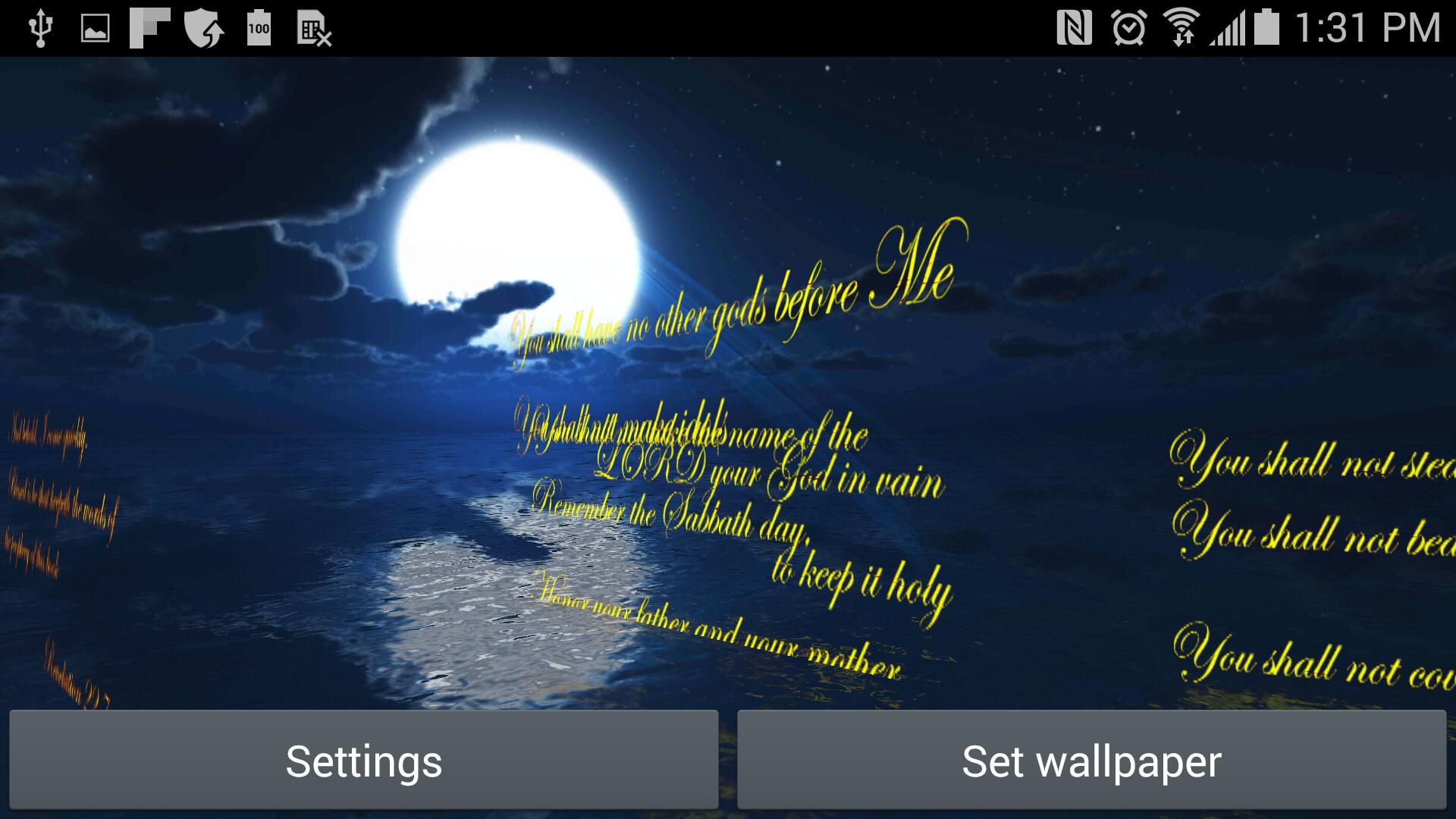 Amazon Com The Ten Commandments 3d Live Wallpaper Appstore For