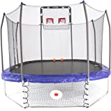Skywalker Trampolines 12' Square Jump, Dunk, and Kick Sports Arena with Enclosure