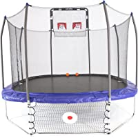 Skywalker Trampolines Jump/Dunk/Kick Trampoline - 12' Square Jump, Dunk & Kick Sports Arena, Blue