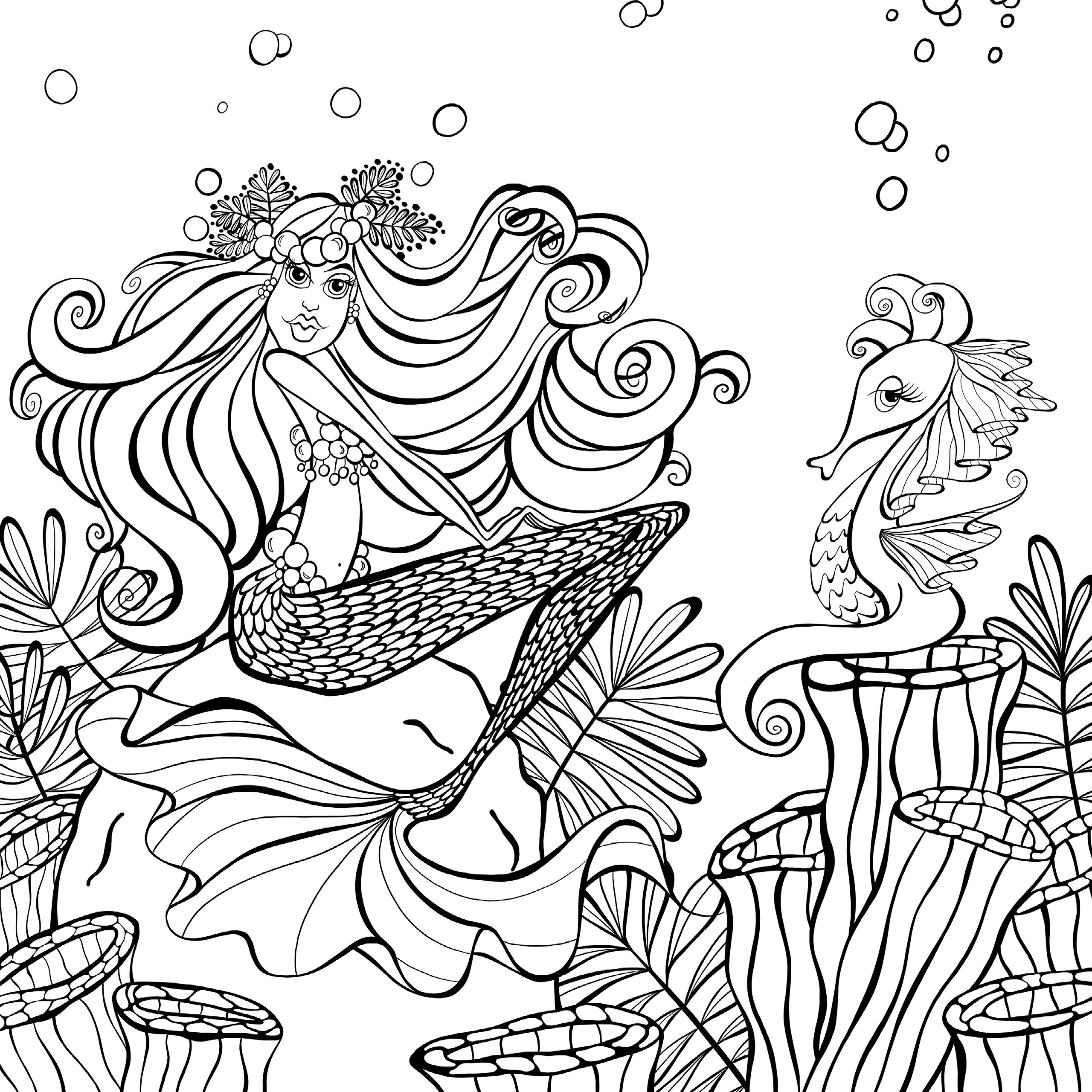 Amazon Zendoodle Coloring Presents Mermaids In Paradise An Artists Book 9781250147691 Denyse Klette Books