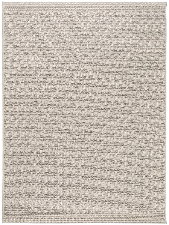 Benuta In- & Outdoor Teppich Naoto Weiß 120x170 cm   Pflegeleichter Teppich geeignet für Innen- und Außenbreich, Balkon und Terrasse