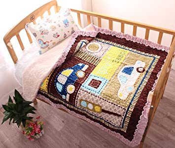 Amazon Com J Pinno Cars Cozy Plush Cotton Quilt Bedspread Throw