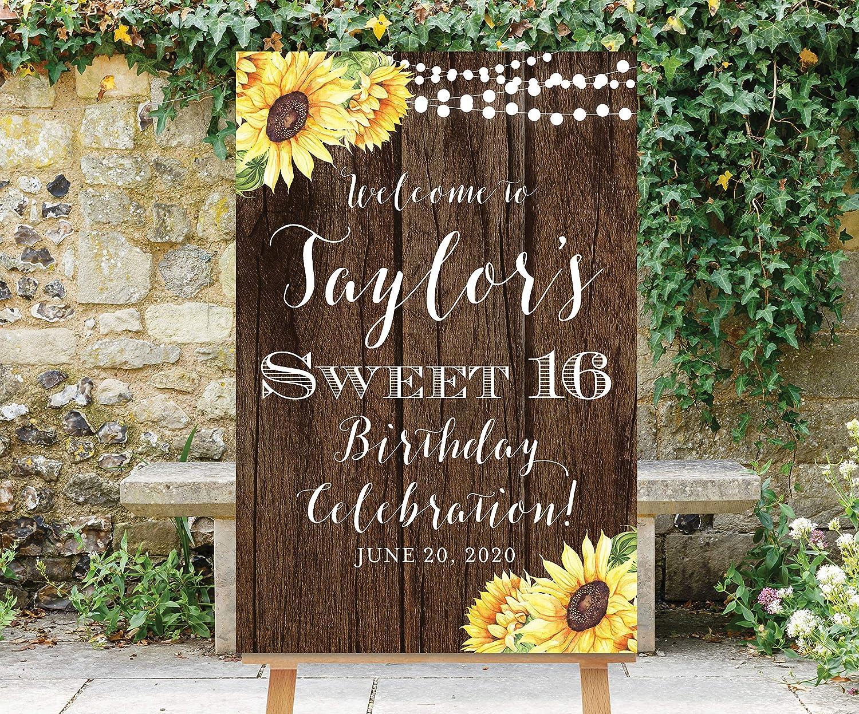 Amazon.com: Dozili - Cartel de bienvenida de 16 cumpleaños ...