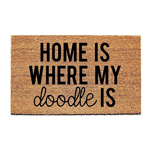 Home Is Where My Doodle Is Doormat Fox And Clover Original