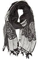 Pashmina/scialle/vestaglietta/stola bordo soffice con motivo a ranuncolo a due colori Sakkas Aubry