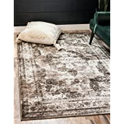 Unique Loom Sofia Collection Traditional Vintage Light Brown Area Rug (5' x 8')