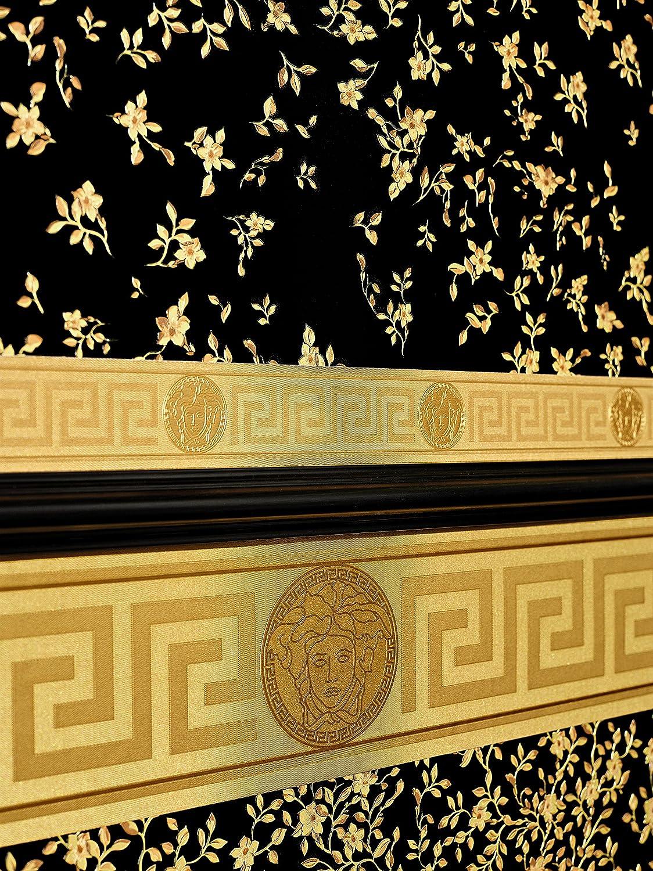 Versace border - material: vinyl on non-woven material - colour: gold - article no. 1504-2779 - - Amazon.com