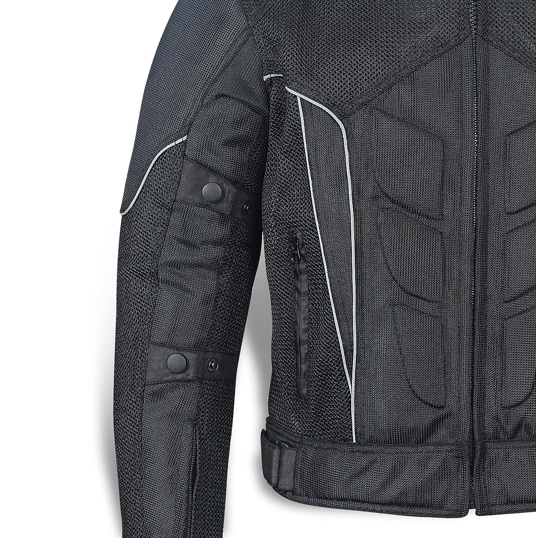 JET Textile Air Mesh Motorcycle Motorbike Summer Jacket CE Armoured 46-48 3XL , Black