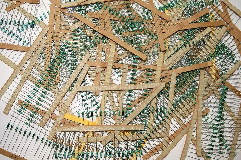 Rees52 8174 800 Pieces 40 Values Assorted Mixed Carbon Film Breadboard Circuit Test Board Resistors Lot 5 Percent 025w Resistor Kit Industrial Scientific