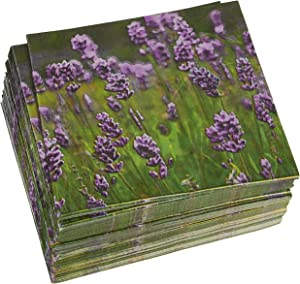 Lavender Paper Napkins for Wedding or Shower Party (6.5 x 6.5 In, 100 Pack)